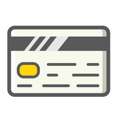 Credit card filled outline icon business finance vector