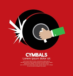 Cymbals Music Instrument vector image