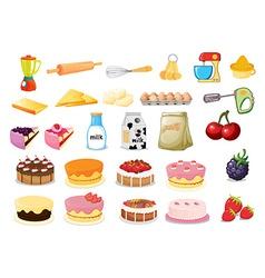 Dessert set vector image vector image