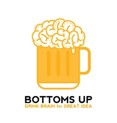 Drink Brain Beer For Great Idea vector image vector image