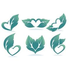Eco hearts vector