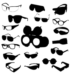 Glasses and sunglasses set vector