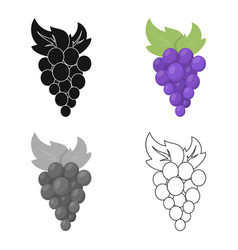 grapes icon cartoon singe fruit icon from the vector image