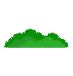 green stylized bush icon vector image vector image