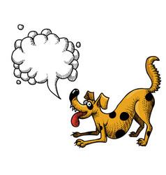 happy dog-100 vector image