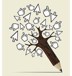 Internet activity concept tree vector image vector image