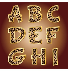 Leopard letters vector image