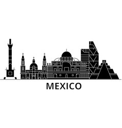 mexico architecture city skyline travel vector image