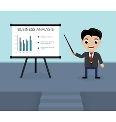 Presentation of business analysis vector