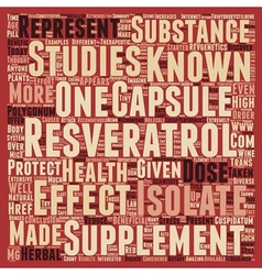 Resveratrol capsules tiny ounces of health text vector