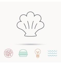 Sea shell icon Seashell sign vector image vector image