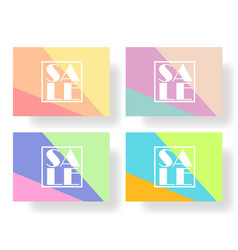 Set of colorful banners flyers posters for sale vector