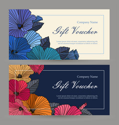 Set of floristic gift elements of corporate vector