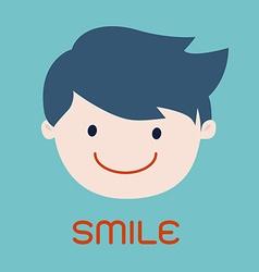 Smiling business man cartoon vector image