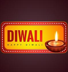 Stylish happy diwali background vector