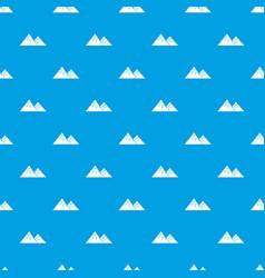 Swiss alps pattern seamless blue vector