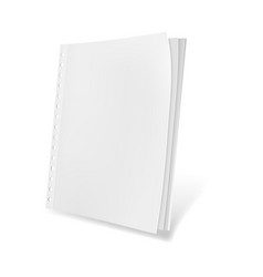 template blank magazine vector image