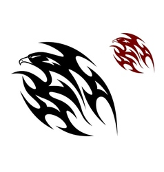 Tribal bird tattoo vector