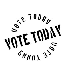 Vote today rubber stamp vector