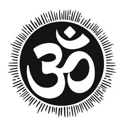 With mantra om lineart tattoo vector