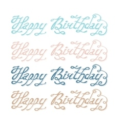 Isolated abstract colorful happy birthday writing vector