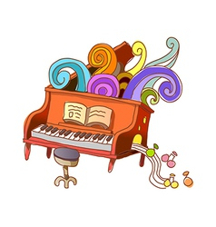A piano lesson vector