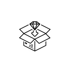 packing icon flat design vector image