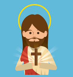 Jesus christ religious character vector