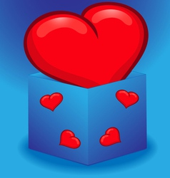 Heart in a box vector