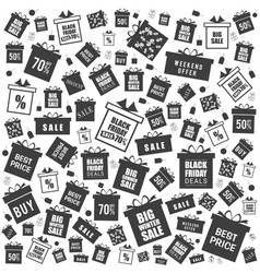 gift box witih sale and black friday on it vector image