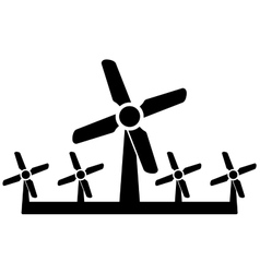 Wind mill icon - wind power symbol vector