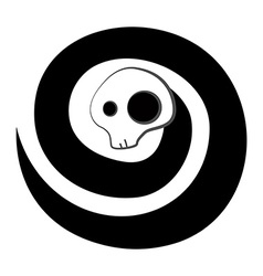 Spiral skeleton spirit vector