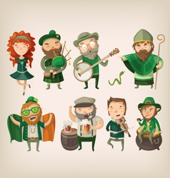 Set of irish characters vector image