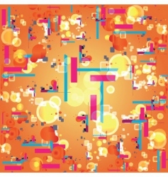 Retro abstract pattern vector