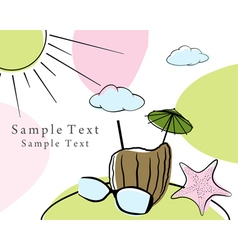 Doodle card vector