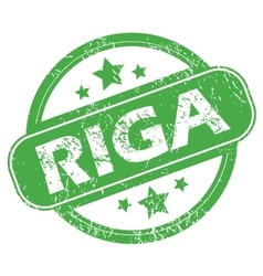 Riga green stamp vector