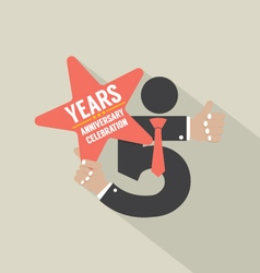5th years anniversary typography design ill vector