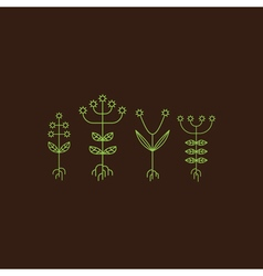 Flora elements eco sign vector