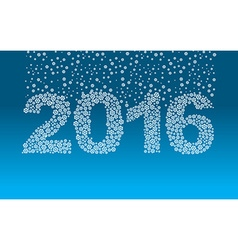 2016 snowflakes snow falls on the figures new year vector