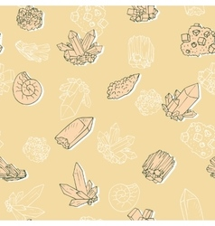 Seamless pattern with minerals vector