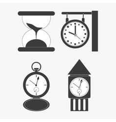 clock design white background time concept vector image