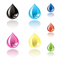 Ink droplet vector