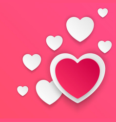abstract paper hearts valentines day abstract 3d vector image vector image
