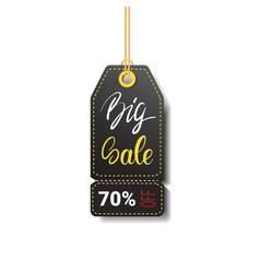 Big sale tag isolated black friday logo design vector