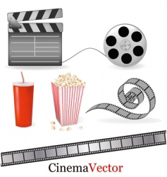 big set of cinema elements vector image vector image
