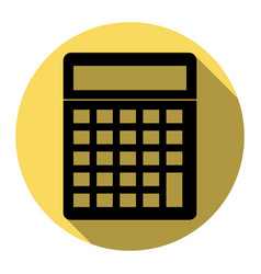 Calculator simple sign flat black icon vector