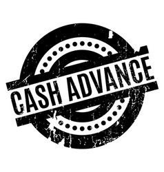 Cash advance rubber stamp vector