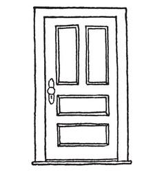 Closed hinged doorclosed la puerta esta cerrada vector