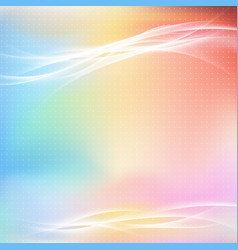 colorful bright abstract light swoosh line layout vector image vector image