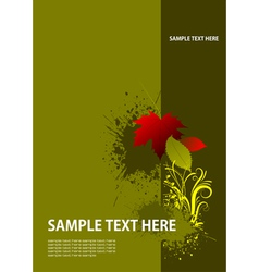 cover with red leaf vector image vector image